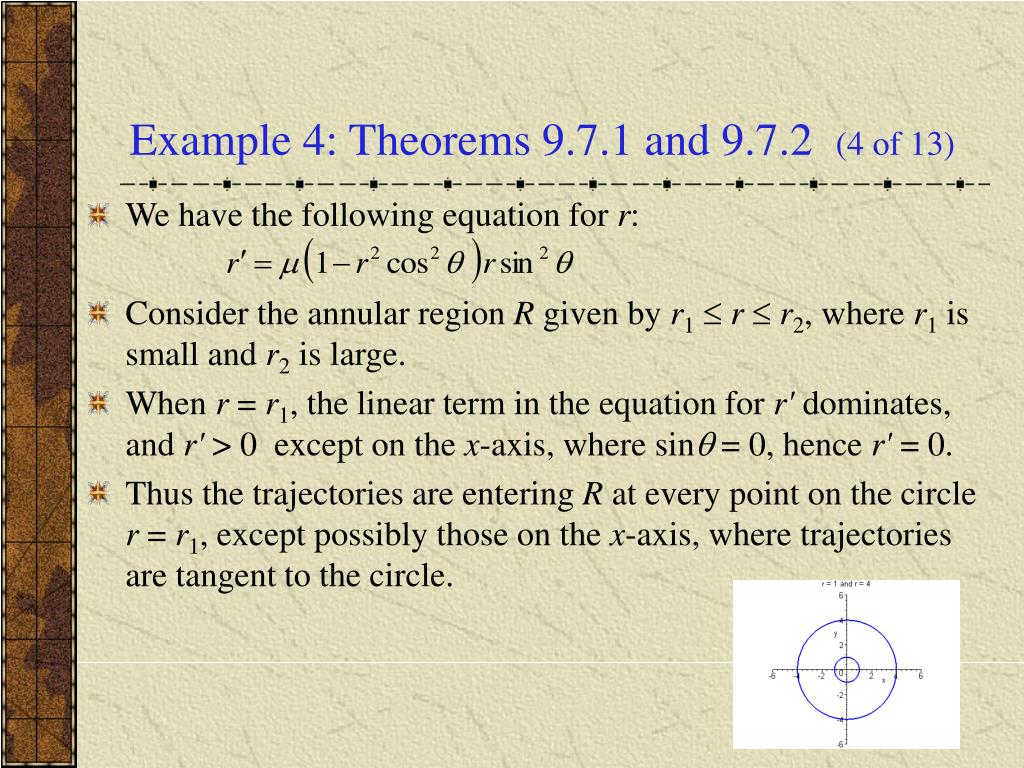 Example 4: Theorems 9.7.1 and 9.7.2