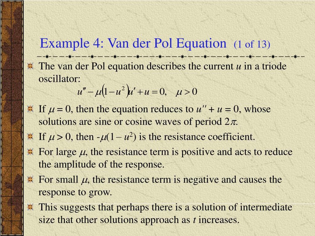 Example 4: Van der Pol Equation