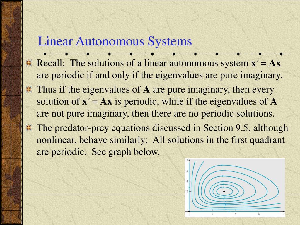 Linear Autonomous Systems