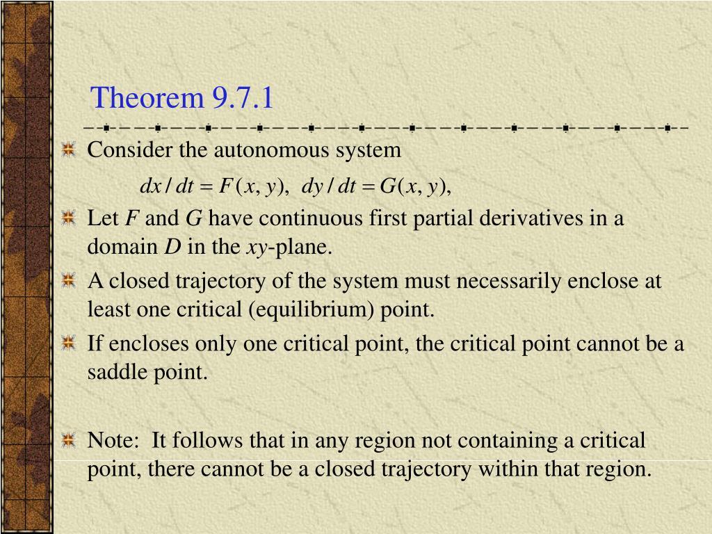 Theorem 9.7.1