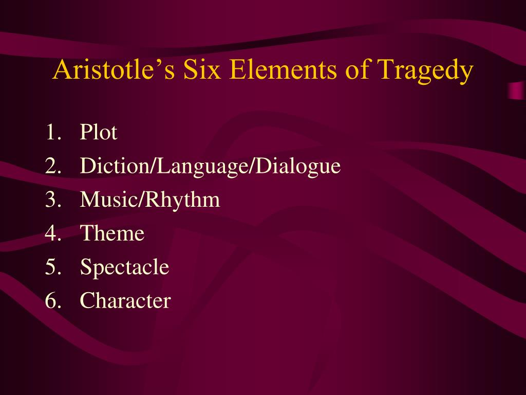 Aristotle's Six Elements of Tragedy