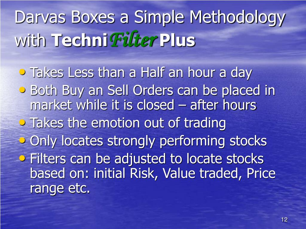 Darvas Boxes a Simple Methodology with