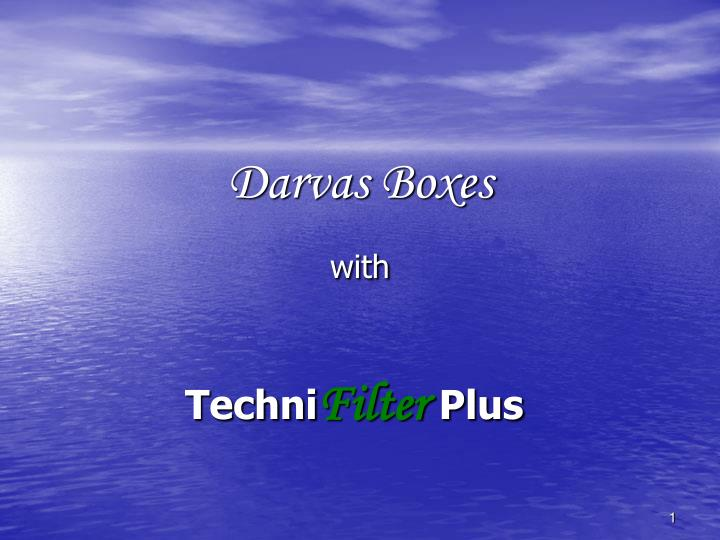 Darvas boxes with