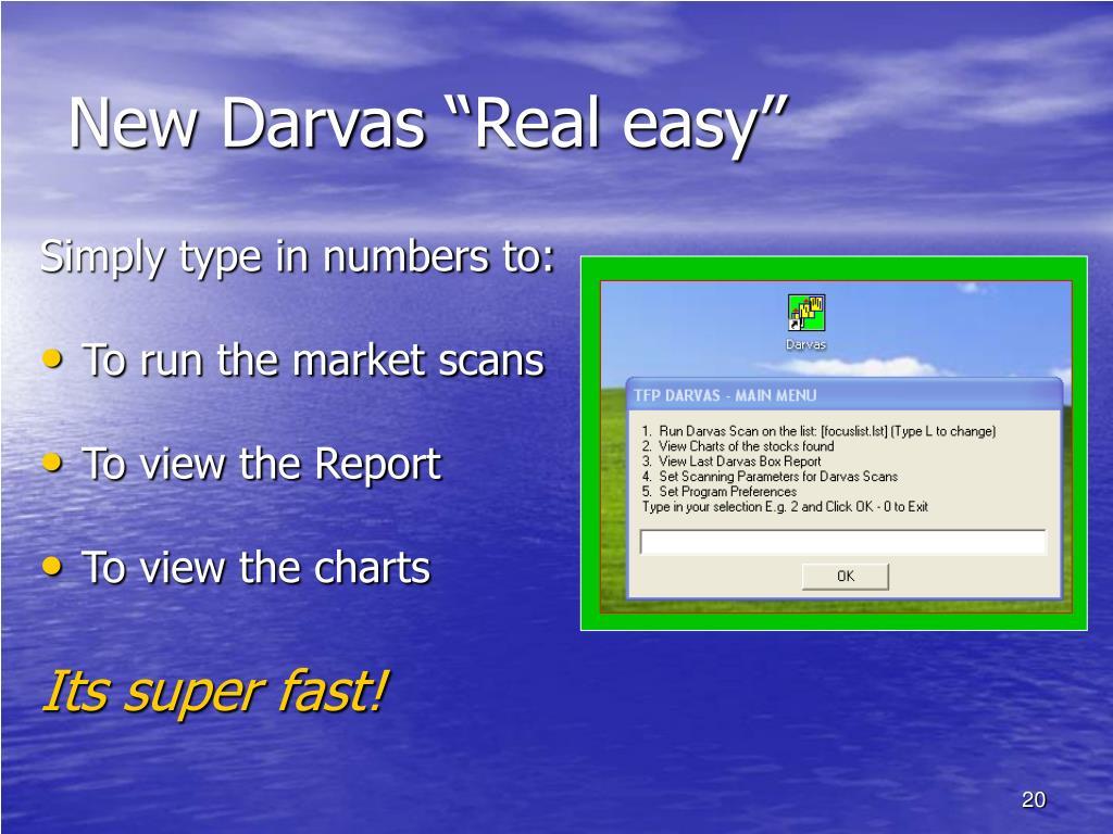 "New Darvas ""Real easy"""