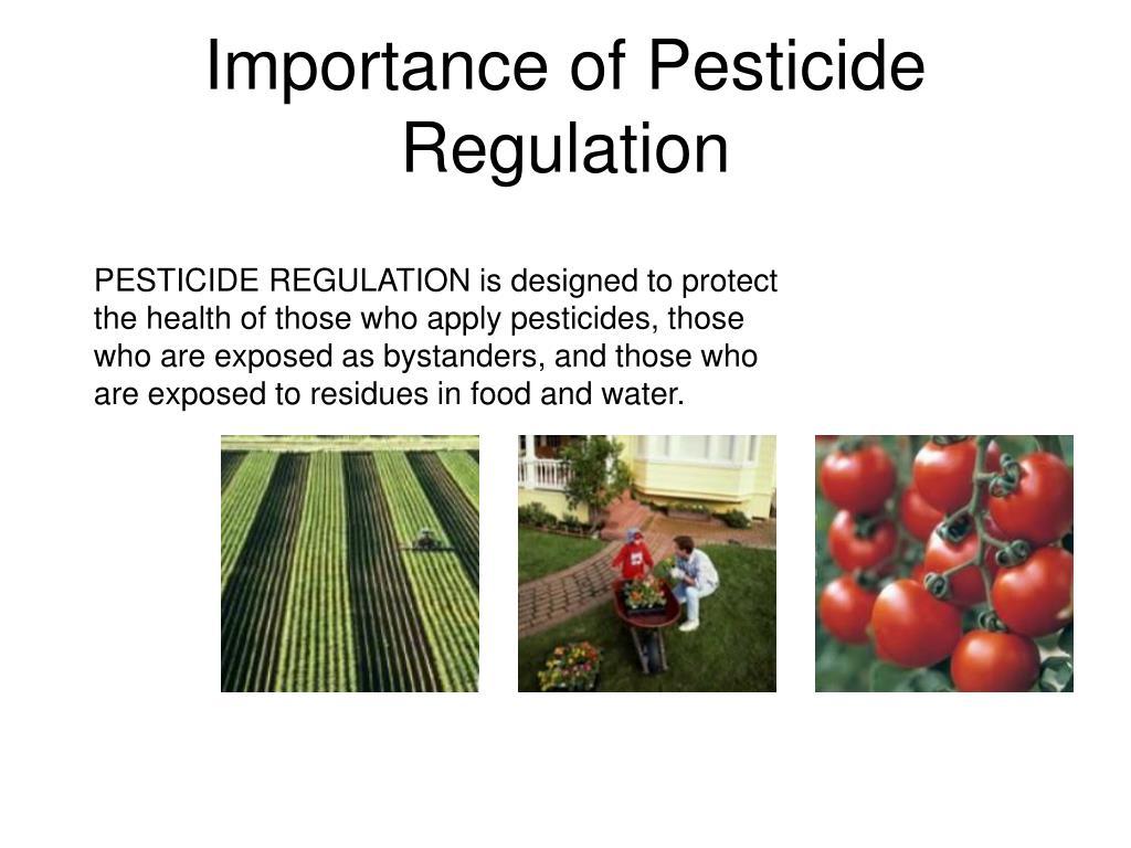 Importance of Pesticide Regulation