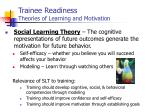 trainee readiness theories of learning and motivation