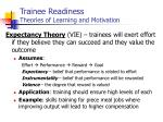 trainee readiness theories of learning and motivation4
