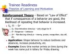 trainee readiness theories of learning and motivation5