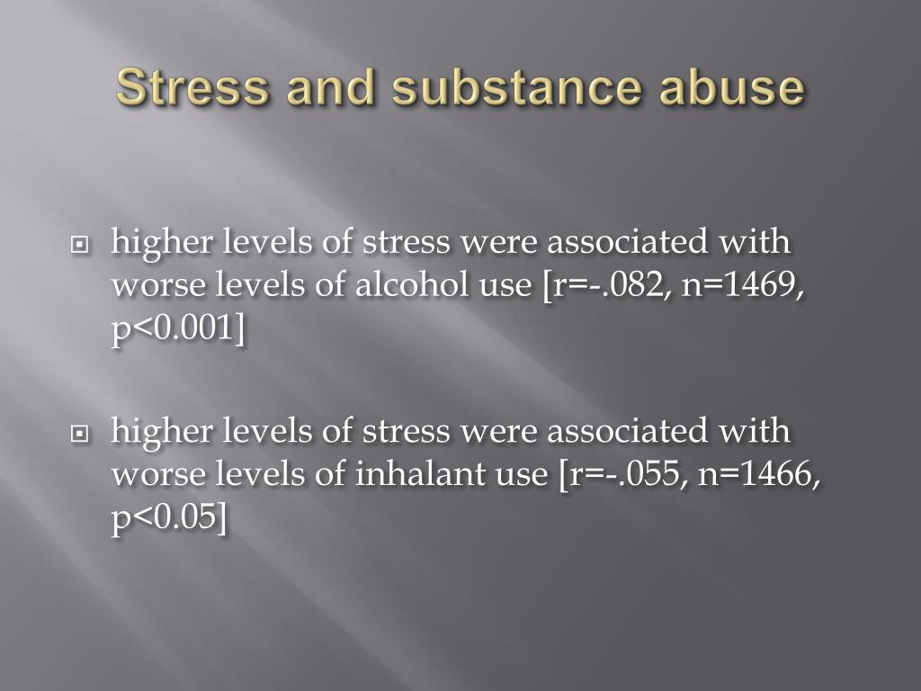 Stress and substance abuse