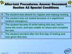 after test procedures answer document section a2 special conditions