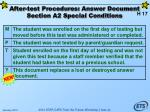 after test procedures answer document section a2 special conditions62
