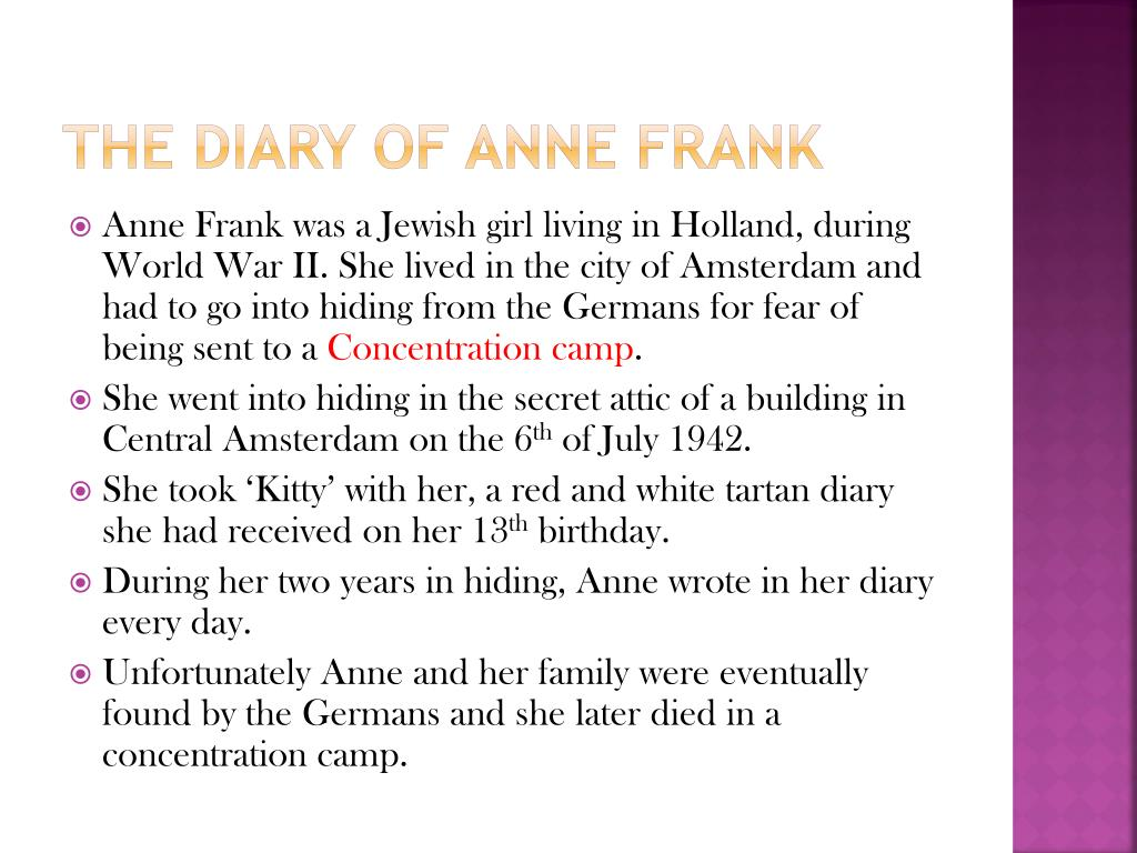 The diary of