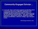 community engaged scholar