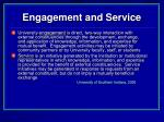 engagement and service