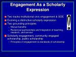 engagement as a scholarly expression