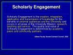 scholarly engagement