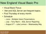 new england visual basic pro