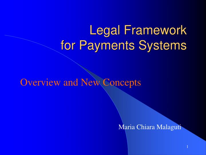 legal framework for payments systems n.