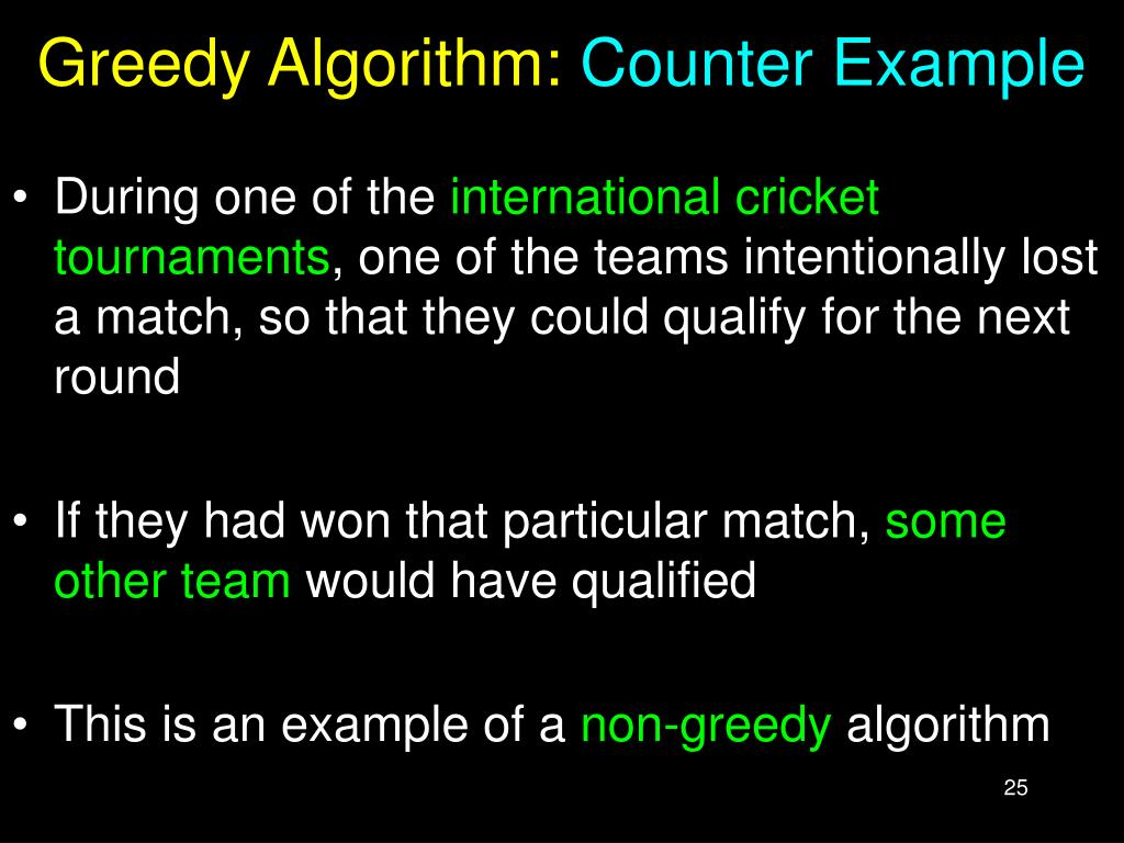 Greedy Algorithm: