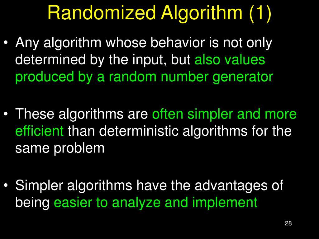Randomized Algorithm (1)