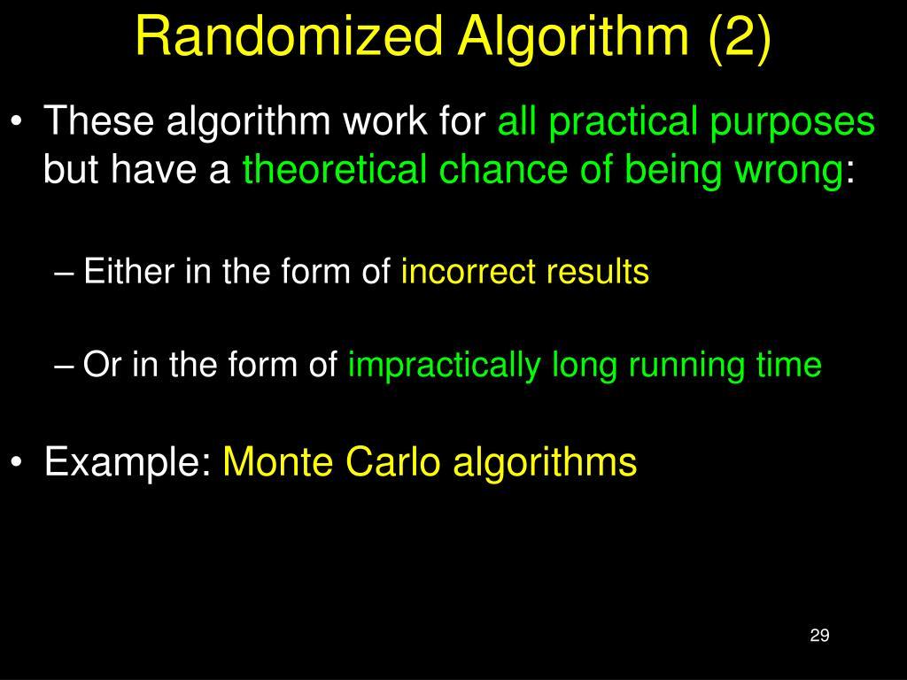 Randomized Algorithm (2)