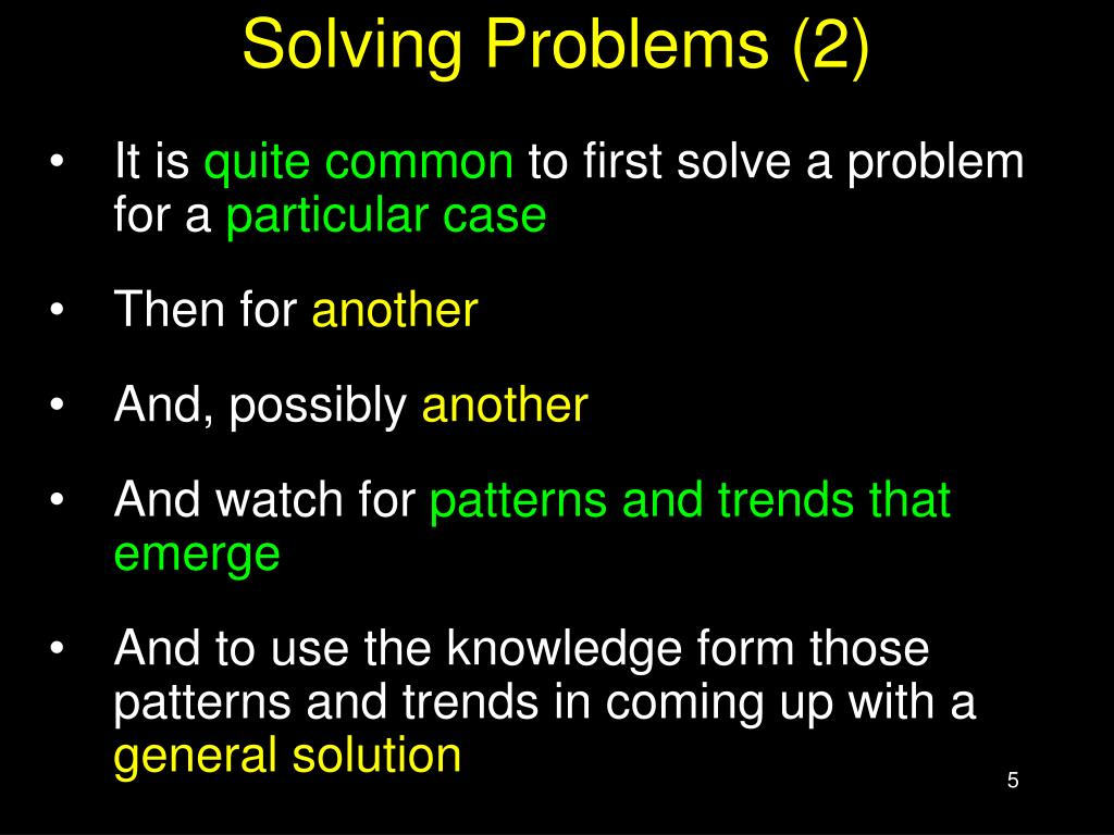 Solving Problems (2)