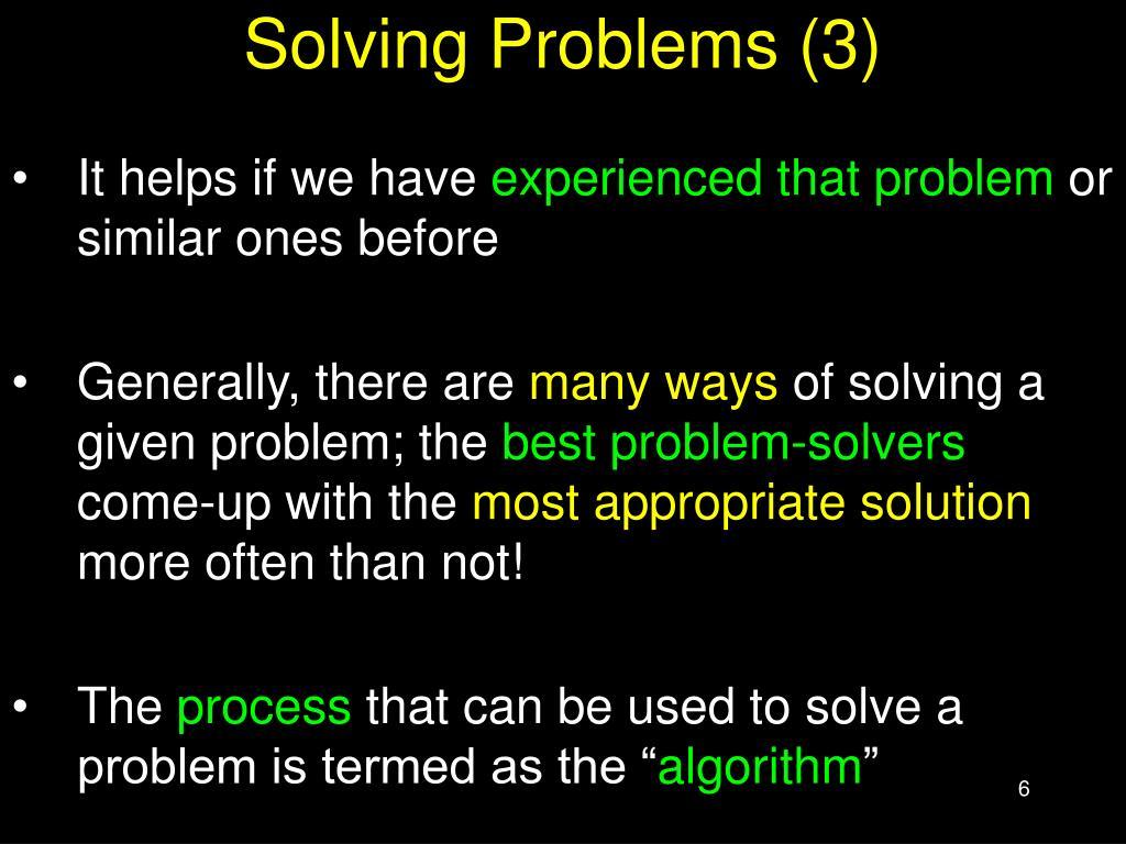 Solving Problems (3)