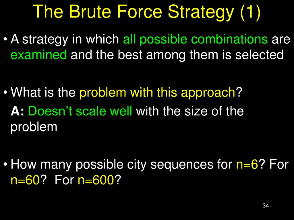The Brute Force Strategy (1)