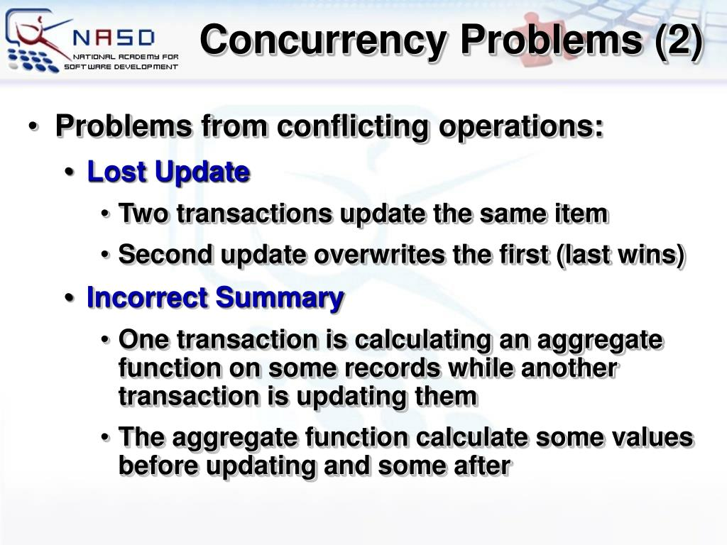 Concurrency Problems (2)