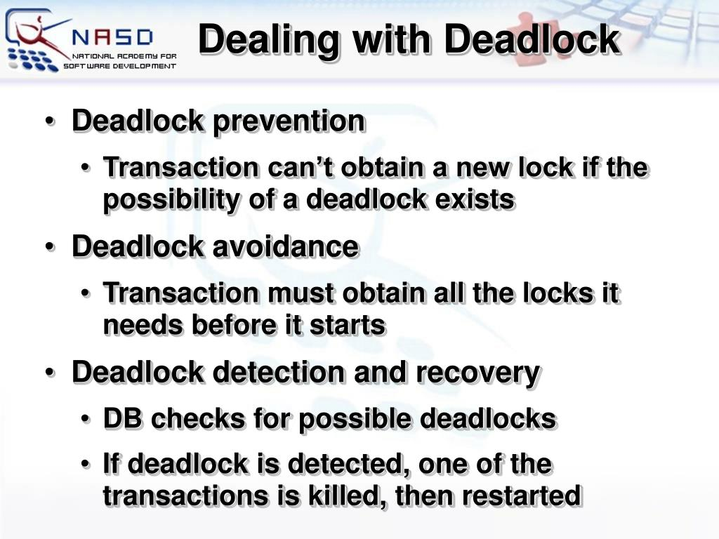 Dealing with Deadlock