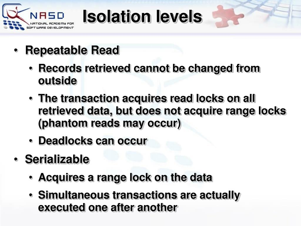 Isolation levels