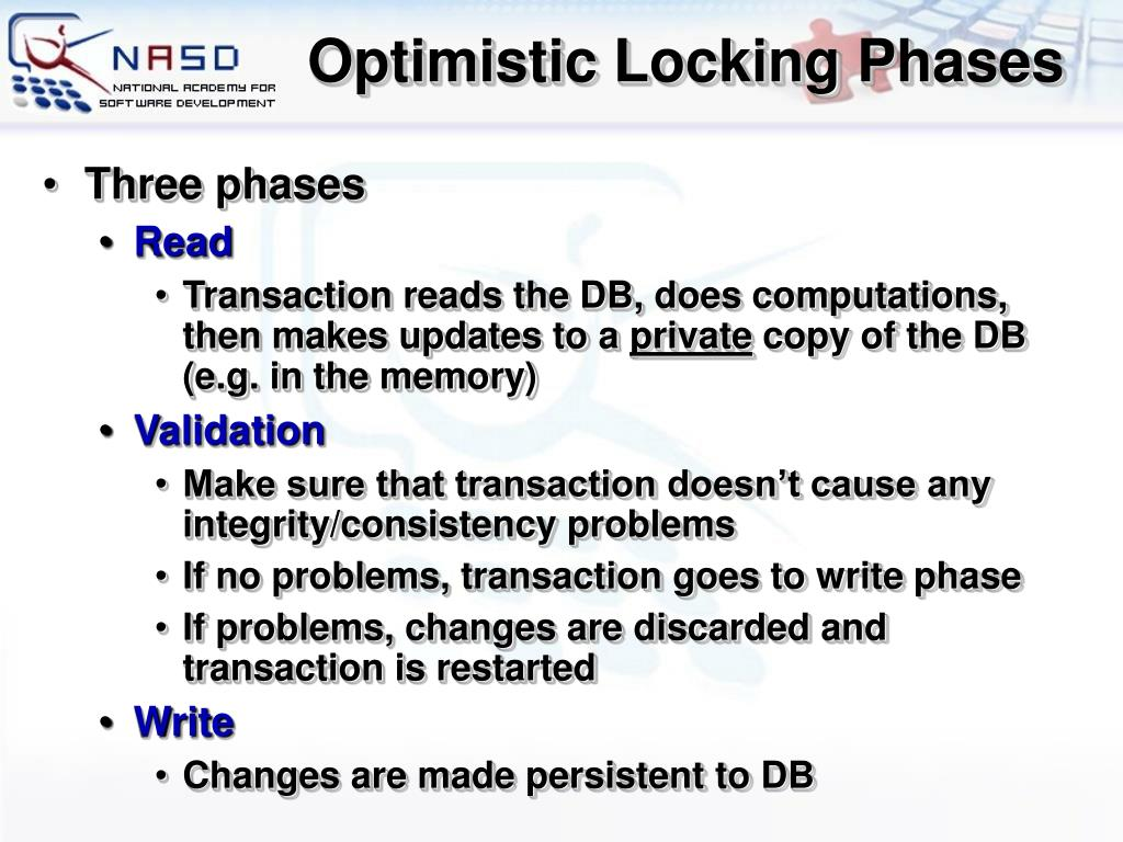 Optimistic Locking Phases