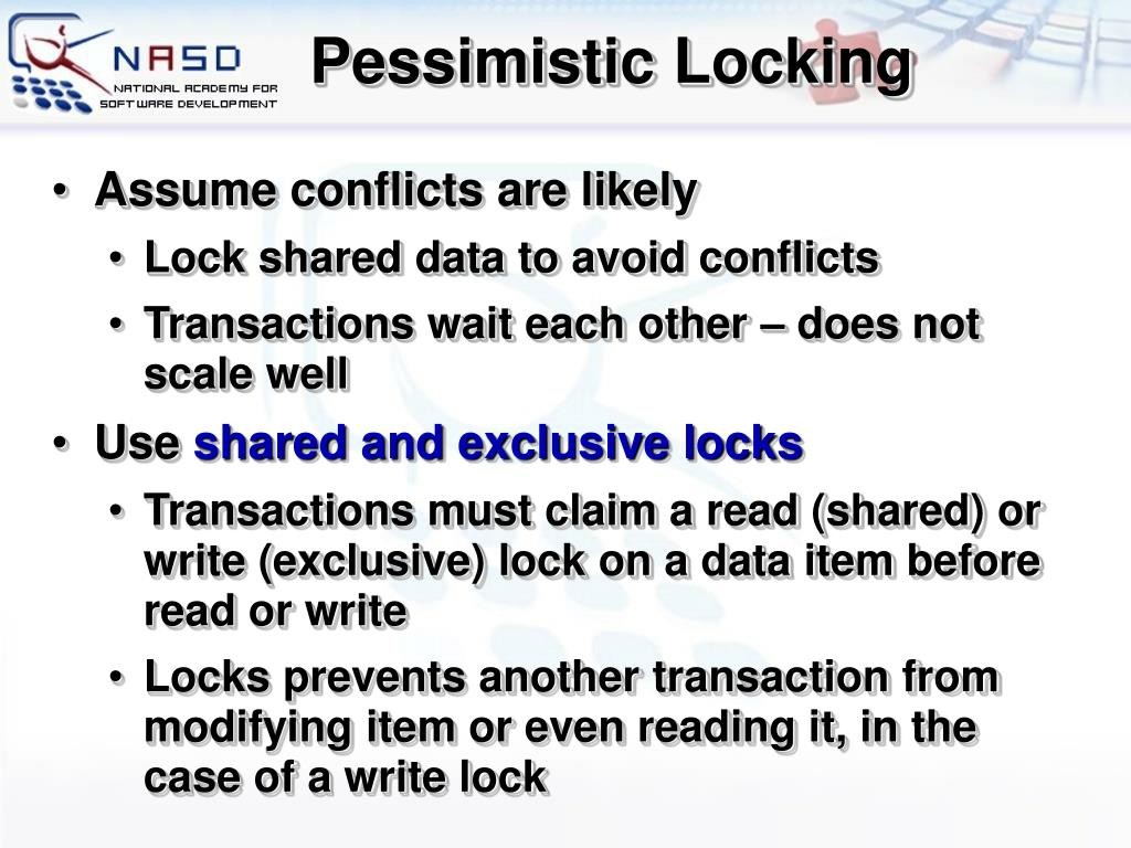 Pessimistic Locking