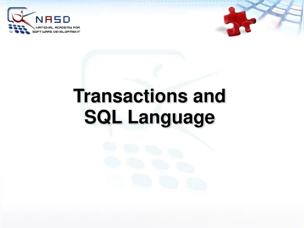 Transactions and SQL Language