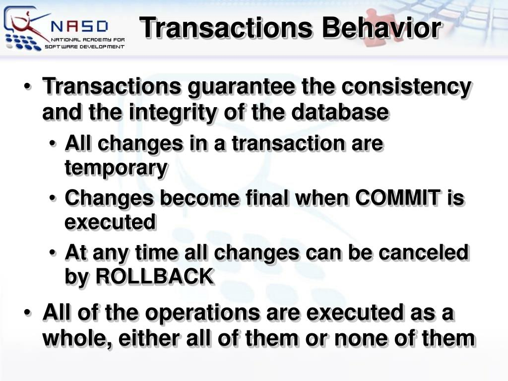 Transactions Behavior