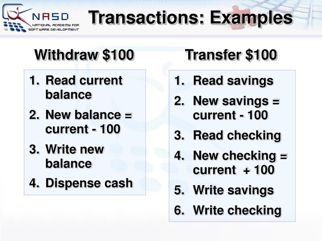 Withdraw $100