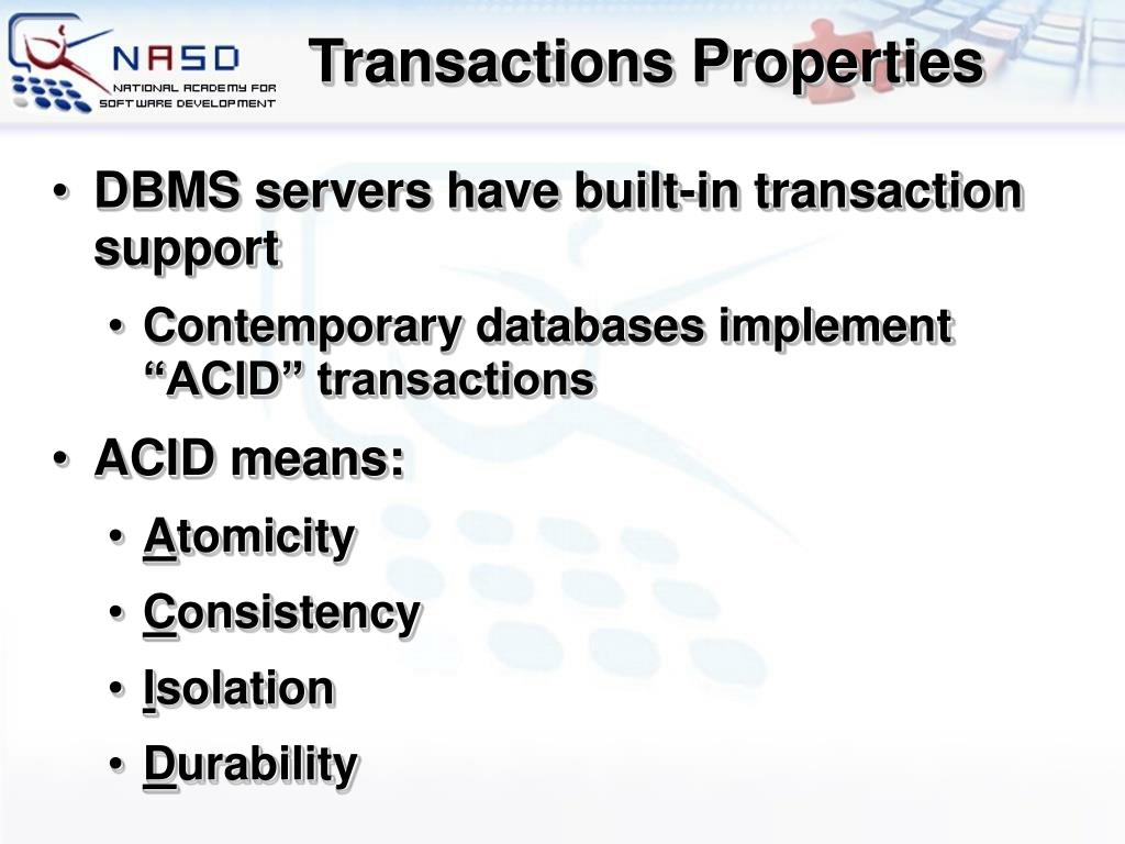 Transactions Properties