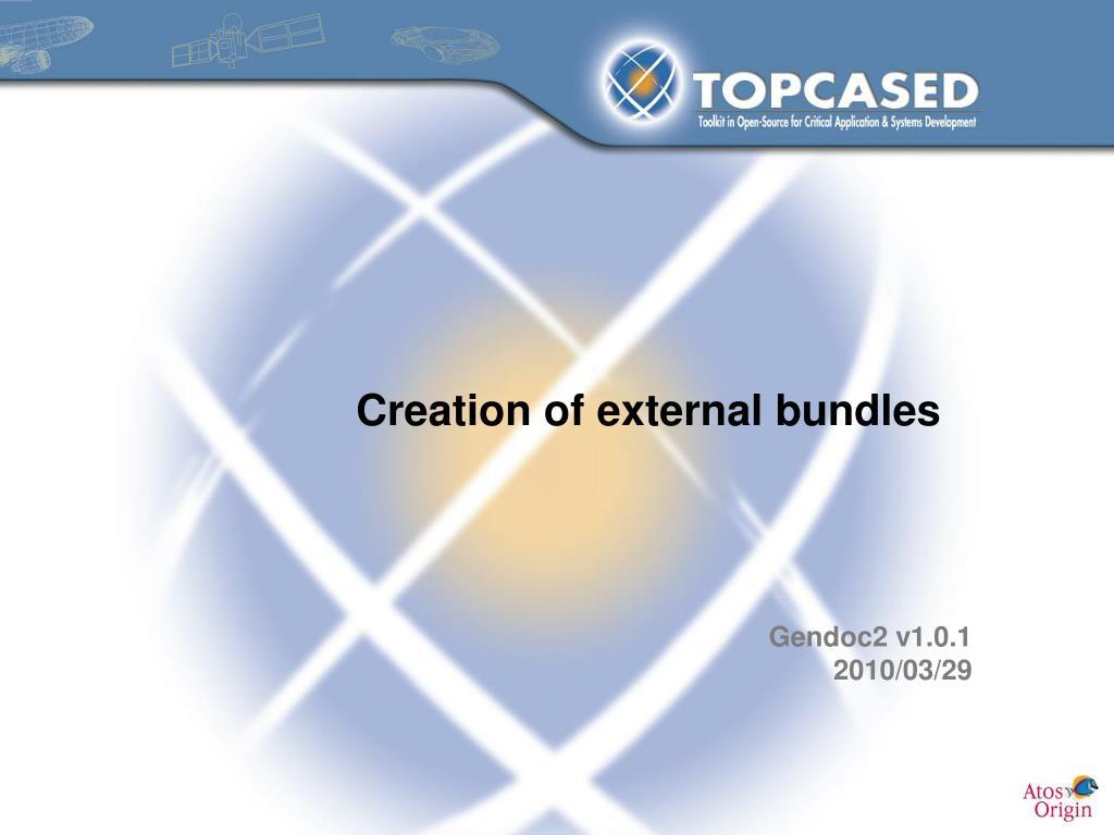 creation of external bundles