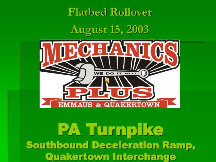 pa turnpike southbound deceleration ramp quakertown interchange n.