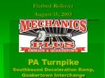 pa turnpike southbound deceleration ramp quakertown interchange