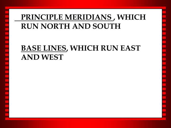PRINCIPLE MERIDIANS