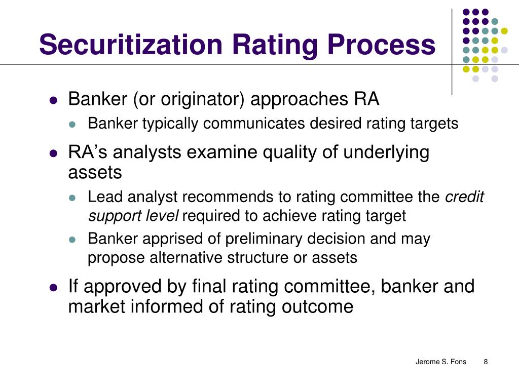 Securitization Rating Process
