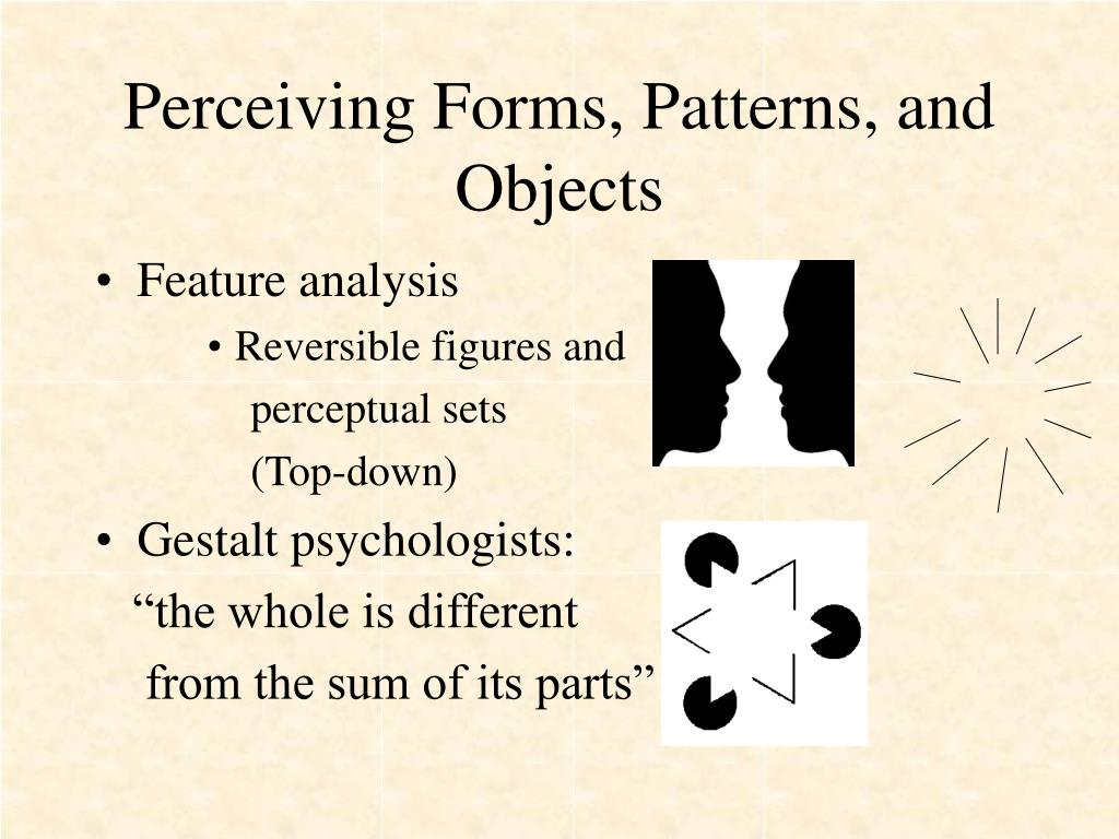 Perceiving Forms, Patterns, and Objects