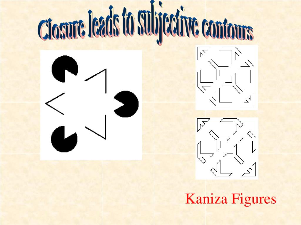 Closure leads to subjective contours