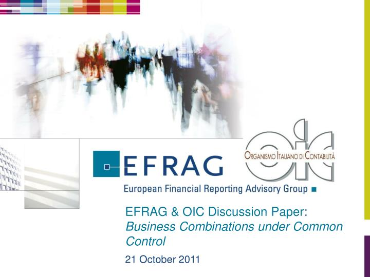 Efrag oic discussion paper business combinations under common control