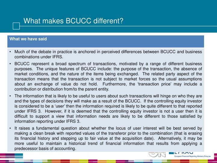 What makes bcucc different