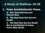 a study of matthew 10 28