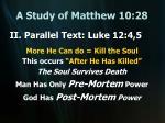 a study of matthew 10 2811