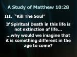 a study of matthew 10 2818