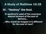 a study of matthew 10 2820